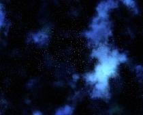 Night sky background with nebula and stars